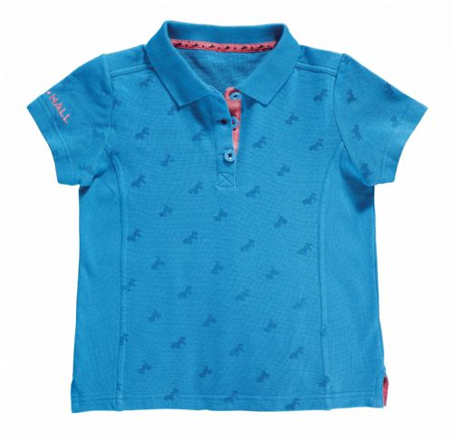 Harry Hall Barlyby Junior Polo Shirt in Methyl Blue